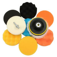 Car Polishing Pad Sponge Wool Cleaning Attachment Buffing Disc M14 Drill Adapter