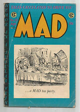Mad #15: Gold Age Ec Humor Classic With Alice In Wonderland Cover!