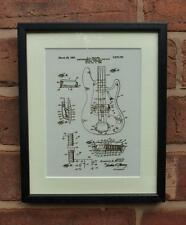 USA Patent Drawing  FENDER BASS GUITAR PICKUP MOUNTED PRINT 1959 Xmas Gift