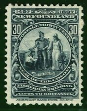 Canada NEWFOUNDLAND QV Stamp SG.77 30c Mint MM COLONY SEAL1897 Cat £55 YBLUE73