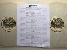 STEVIE RAY VAUGHAN In Concert #87-21 2xLP LIVE WW1 Radio Show STEPPENWOLF