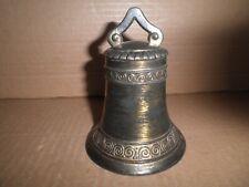 New ListingNeat old original lead Liberty Bell key lock still bank.1920's
