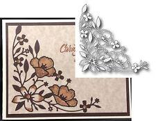 WILDFLOWER CORNER die MEMORY BOX DIES 98895 Elegant Flowers leaves All Occasion