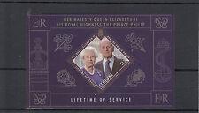 St Helena 2011 MNH Lifetime of Service 1v Sheet Prince Philip Queen Elizabeth II