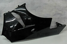 09 10 Kawasaki ZX6R Left Belly Fairing Under Metal flake Black