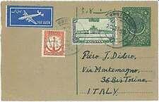 Storia POSTALE-Pakistan: Airmail sationery postali per Italia 1955