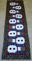 TOPSY TURVY SNOWMEN~CHRISTMAS TABLE RUNNER QUILT PATTERN~JANUARY YEAR TWO~WINTER