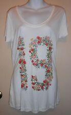 MNG by Mango Ladies Short Sleeve Embellished T-Shirt White S NWT