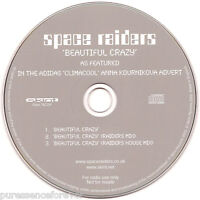 SPACE RAIDERS - Beautiful Crazy Remixes (UK 3 Tk Radio/DJ CD Single)