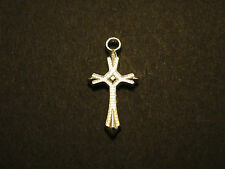 Lot Of 50 Pcs Pointed Cross Silver Plated Pendants Charms