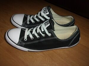 Converse All Star CT Dainty OX Black ladies pumps size 7