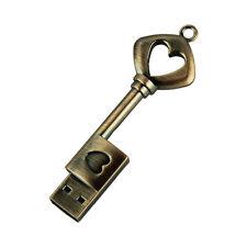 USB Stick Metall reines kupfernes Herz Schlüssel USB Flash Drive echter 4GB
