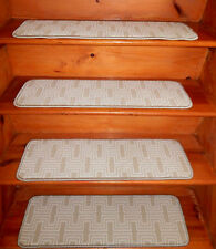 13 Step  9'' x 30''  + 1 Landing  30'' x 30''  Stair treads Wool Blend carpet.