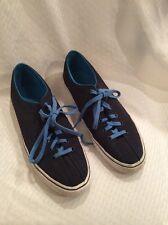 EUC K-Swiss Unisex Classic Canvas Tennis Shoes Size M-10.5 W-12  Blue
