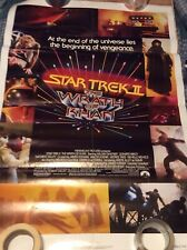 star trek the wrath of kahn folded promo poster excellent condition