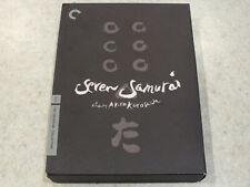 Criterion Collection Seven Samurai by Akira Kurosawa 3 Dvds and Book w Pics 1954