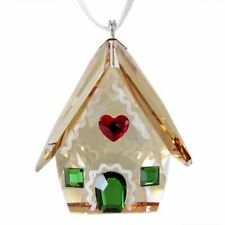 Swarovski Gingerbread House Christmas Ornament Amber/Green/Red 5395977 T1