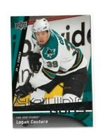 2009-10 UPPER DECK #487 LOGAN COUTURE YG RC UD YOUNG GUNS ROOKIE SHARKS