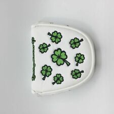 Big Money Mallet White Golf Putter Cover Magnetic Closure Golf Headcover