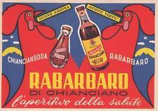 Z432) RABARBARO DI CHIANCIANO, L'APERITIVO DELLA SALUTE.