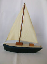 Wooden Sailboat Wood Rustic Country Home Decor