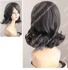 Cos dark gray  short curly  Cosplay Full Heat-resistant Wig  + Gift