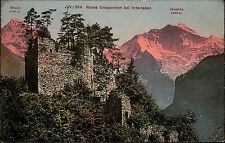 Interlaken Schweiz Bern ~1910 Burg Unspunnen Bödeli Burgruine Ruine Mönch Berge