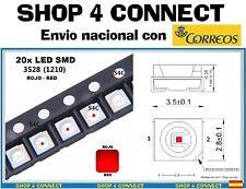 20 Diodos LED SMD ROJO RED 3528 / 1210 20ma SMT CAR automocion ARDUINO 3.5 x 2.8