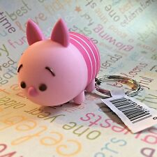 Authentic Disney Tsum Tsum Vinyl Figural Keychain Clip Ring Piglet