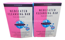 2 x Clear Essence Platinum Line Medicated Cleansing Bar Plus Exfoliants