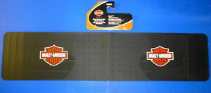 Harley Davidson Rear Runner Rubber Floor Mat Orange Logo Truck SUV VAN