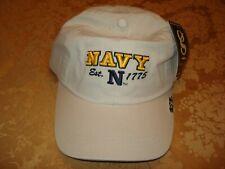 US NAVY USN MILITARY EMBROIDERED CAP HEADWEAR NAVY KHAKI/GOLD ADJUSTABLE SIZE