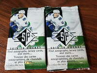 2018-19 sp authentic hockey blaster packs - 2 pack lots - see checklist inside