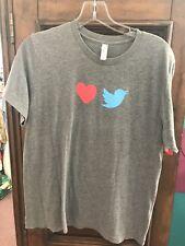 Twitter 10 Year Anniversary Employee Only Exclusive T Shirt, Grey, Unisex Medium
