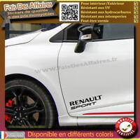 2 Stickers Autocollant renault sport sponsor rallye tuning  decal