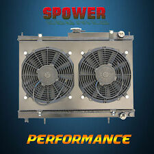 Aluminum Radiator + Fan Shroud For Nissan Skyline R33 R34 RB25DET 2.5L 1993-1998