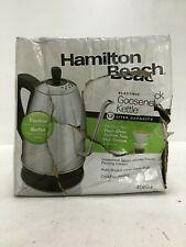 Hamilton Beach Electric Kettle Gooseneck 1.2 Liter Stainless Steel 40899
