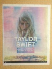 More details for taylor swift original promotional newspaper tour advert / poster