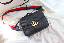 Gucci GG crossbody Shoulder Bag Black Leather