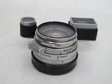 RARE Leica 35mm f:1.4 chrome Summilux Steel Rim for M3 cap filter BEAUTIFUL LQQK