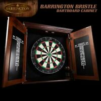 Barrington Bristle Dart Board and Wood Cabinet Set Scoreboard and Accessories