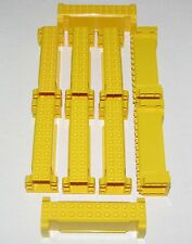 LEGO LOT OF 10 YELLOW CRANE SECTIONS 4 X 12 X 3 LARGE TOW CITY CONSTRUCTION PART