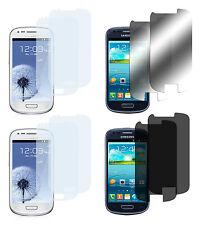 8 x Samsung Galaxy S3 Mini Klar + Matt + Spiegel + Privacy Displayschutz Folie