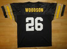 ROD WOODSON Champion PITTSBURGH STEELERS Black Jersey - Youth XL 18-20