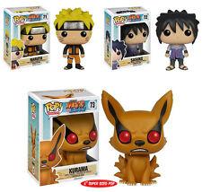 Funko POP! ~ NARUTO SHIPPUDEN 3-FIGURE SET ~ Naruto, Sasuke & Kurama