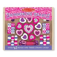 Melissa & Doug Shimmering Hearts Bead Set Creative Play Girls Gift NEW