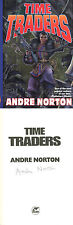 Grand Master Andre Norton SIGNED AUTOGRAPHED Time Traders HC 1st Ed/1st RARE
