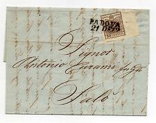ANTICHI STATI 1852 LOMBARDO VENETO 30 CENT. PADOVA 21/12 A/2872