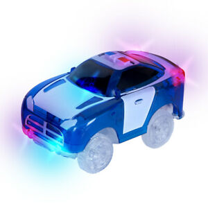 Magic Tracks Polizeiauto blau mit 5 LEDs  In- Outdoor