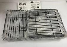 Lot 2 Ronco Showtime Rotisserie Lg Deep Wire Basket 9.5x9.75x2.5 & Speed Basket